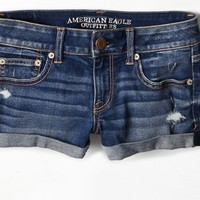 AEO Women's Hi-rise Denim Shortie (Medium Wash)
