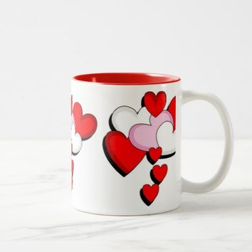 Drinking Heart Two-Tone Coffee Mug