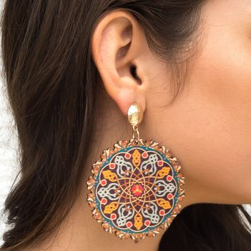 Fulfilled Journey Print Earrings