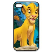 Mystic Zone Customized The Lion King iPhone 4 Case for iPhone 4/4S Hard Cover lovely Cartoon Fits Case KEK0153