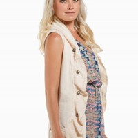 LACE RUFFLE MILITARY VEST