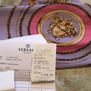 DCCKRQ5 Gianni Versace scarf 100% Silk