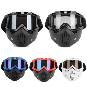 ac NOOW2 New Detachable Modular Motorcycle Riding Helmet Goggles Shield Nose Face Mask For Moto Helmets