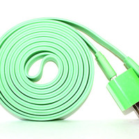Green iPhone 5/5s/5c Charger - 3m/10ft iPhone 5/5s/5c Cable and Plug