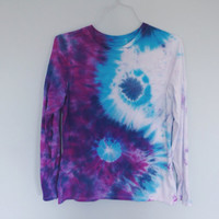 READY TO SHIP - yin yang tie dye long sleeve