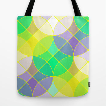 Elegant stained glass tiles mosaic Tote Bag by Natalia Bykova