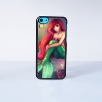 Little Mermaid  Plastic Case Cover for Apple iPhone 5C 6 Plus 6 5S 5 4 4s