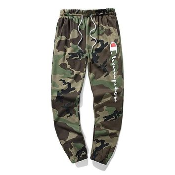 Champion Classic Popular Men Women Casual Print Drawstring Sport Stretch Pants Trousers Sweatpants Camouflage I-CP-ZDL-YXC