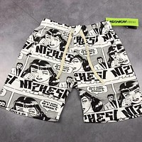Supreme X Boyfriend Pant Comic Print Stylish Women Men Casual T-Shirt Top Shorts Set Two-Piece I-AG-CLWM