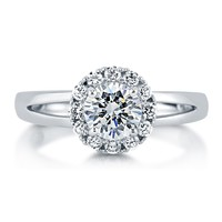 Sterling Silver Round Cubic Zirconia CZ Halo Ring 1.02 ct.tw5 Review(s) | Write A ReviewSKU# R783-CL