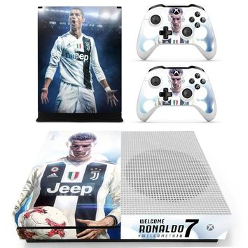New Skin Sticker Decal For Xbox One S Console and Controllers for Xbox One Slim Skin Stickers Vinyl - Juventus Cristiano Ronaldo