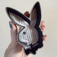 Vintage Chrome Playboy Bunny Ashtray