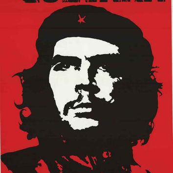 Che Guevara Red Portrait Poster 24x34