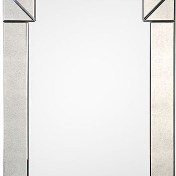 Quick Overview:Antiqued Mirror Framed Mirror