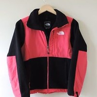 Women's The North Face Black & Pink Full Zip Pink Jacket Size XS
