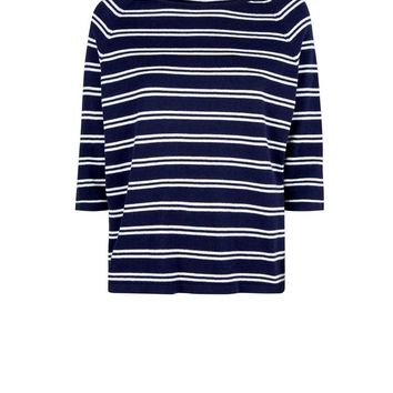 Apricot Navy Stripe Top | New Look
