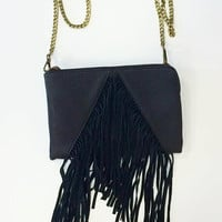 Dark and Mysterious Fringe Purse