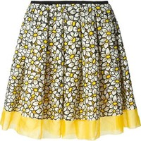 Red Valentino Floral Embroidery Skirt - Leam - Farfetch.com