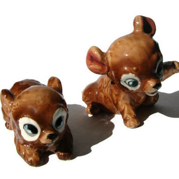 2 Vintage Kreiss & Company Brown Bear Cubs with Big Eyes