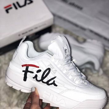 Fila High-soled casual couple s shoes 606f3a773