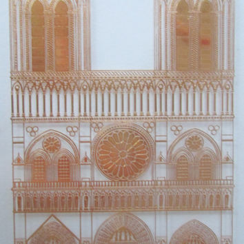 Orrefors Annual Plate Notre Dame Cathedral 1970