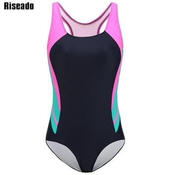 Riseado New 2018 One Piece Swimsuits Brand Swimwear Women Sport Swimming Suits Professional Competition Swim Wear Bodysuits