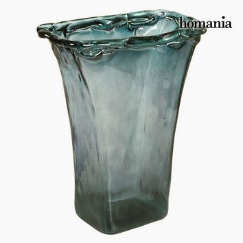 Vase made from recycled glass Grey Transparent - Crystal Colours Deco Collection by Homania