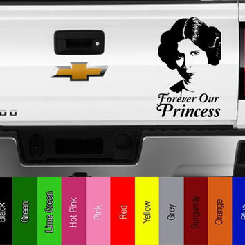 Star Wars - Princess Leia - Forever Our Princess -  Vinyl Decal for Car, Truck, Wall, Laptop - Jedi, Empire, Rebel, Skywalker,