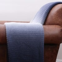 Ombre Knit Throw - Navy