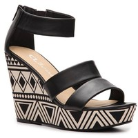CL by Laundry Ines Printed Wedge Sandal