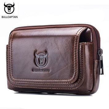 BULLCAPTAIN Leather Waist Bag