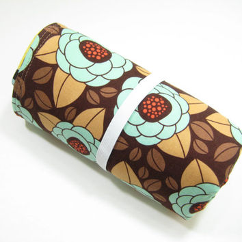Modern Diaper Mat, Floral Baby Changing Mat, Diaper Bag Accessory, Baby Gift Idea
