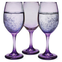 Izabel Wineglasses, Purple, Set of 6, Wine Glasses