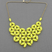 Yellow Bubble necklace, handmade bib Necklace/Statement Bubble Necklace,bridesmaid gifts,Beaded Jewelry
