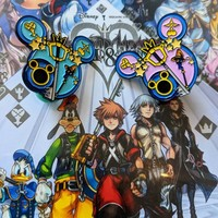 Kingdom Hearts Soft Enamel Pin in Black