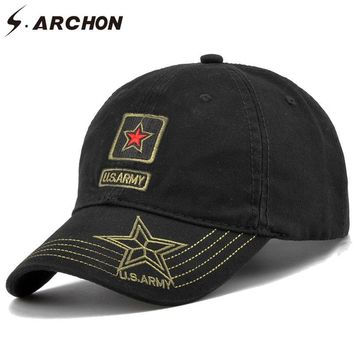 Trendy Winter Jacket S.ARCHON US Navy Seal Militar Camouflage Baseball Cap Men Embroidery Cotton Tactical Hat Unisex Red Star Snapback Camo Army Caps AT_92_12