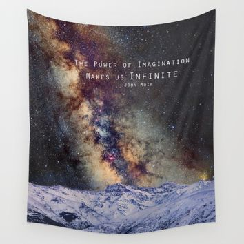 """The Power of Imagination Makes us Infinite"" Wall Tapestry by Guido Montañés"