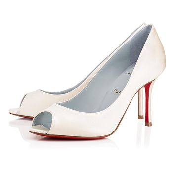 Cl Christian Louboutin Yootish Off White Crepe Satin/satin/lurex 18s Bridal 1181148wh19 - Best Online Sale