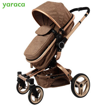 High View Newborn Pram Elegant Baby Carriage