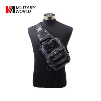 Airsoft Tactical Outdoor 1000D Nylon Men Shoulder Messenger Bags Hunting Chest Pack Man Cycling Riding Men's Travel Bags