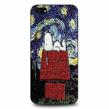 Snoopy In A Starry Night Van Gogh iPhone 5/5s/SE Case