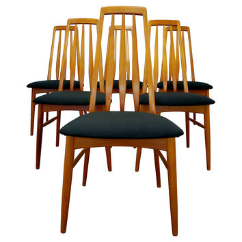 Danish Modern Dining Chairs, Set of 6