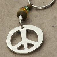 Peace  Token  Keychain  From  Natural  Life