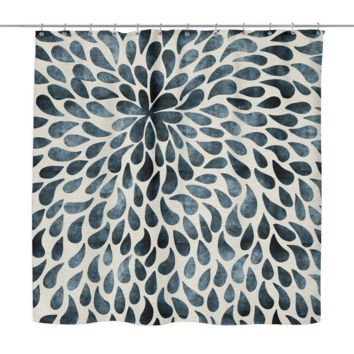 Abstract Flower Petals Shower Curtain
