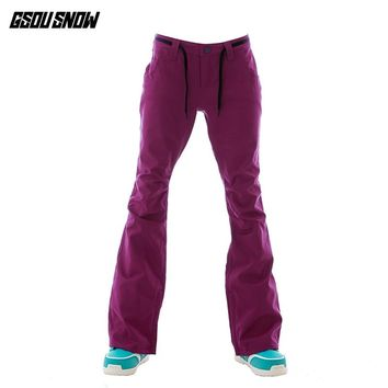GSOU SNOW Brand Ski Pants Women Snowboard Pants Winter Skiing Snowboarding Pants High Quality Female Outdoor Sport Snow Trousers