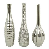 Aspire Home Accents 6629 Accents Tianna Home Decor Vases ;Silver - Walmart.com