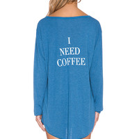 Wildfox Couture I Need Coffee Sleep Shirt in East Hampton