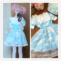 Lolita Cloud Maid Dress Free shipping from HIMI'Store