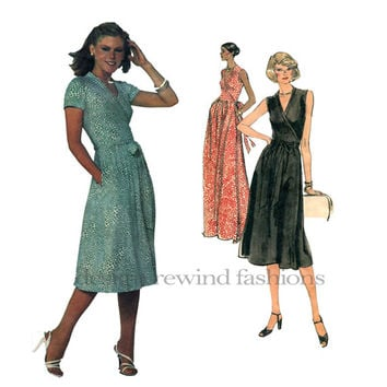 Diane Von Furstenberg WRAP DRESS Vogue 1610 American Designer Womens Vintage Sewing Pattern Day Evening Cocktail Maxi Bust 32.5 Size 10