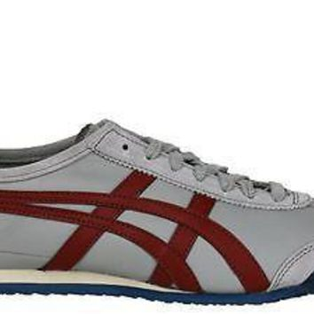 onitsuka tiger by asics mens shoes mexico 66 grey burgundy  number 1